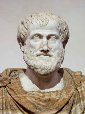 Aristotle was turned into stone by a wizard